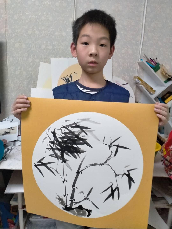 2020-02 少儿国画培训 济南李永钧墨铭轩少儿国画班
