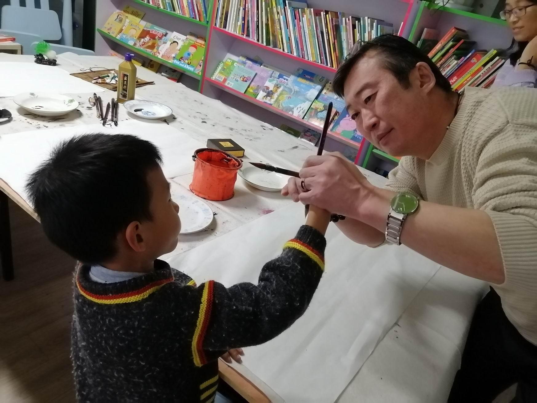 2019-11 少儿国画 济南李永钧墨铭轩少儿国画班