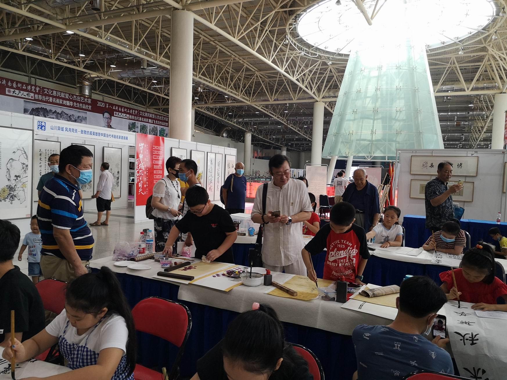 2020.08.23  济南艺术博览会现场创作作品