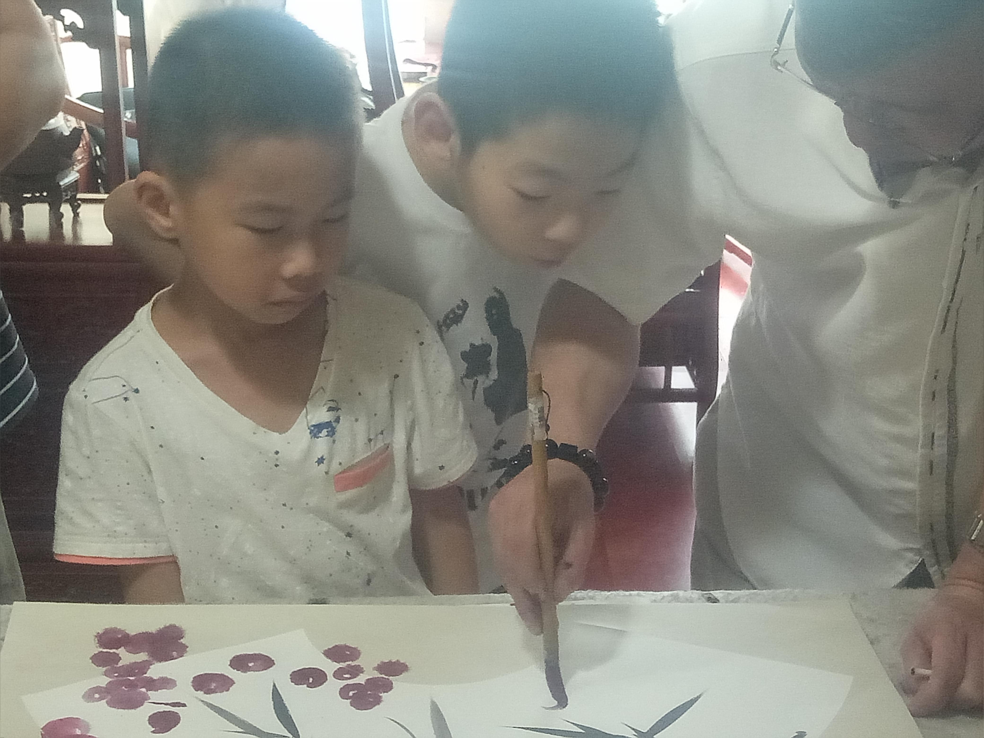 2019-07  济南李永钧墨铭轩少儿国画班课堂和作品