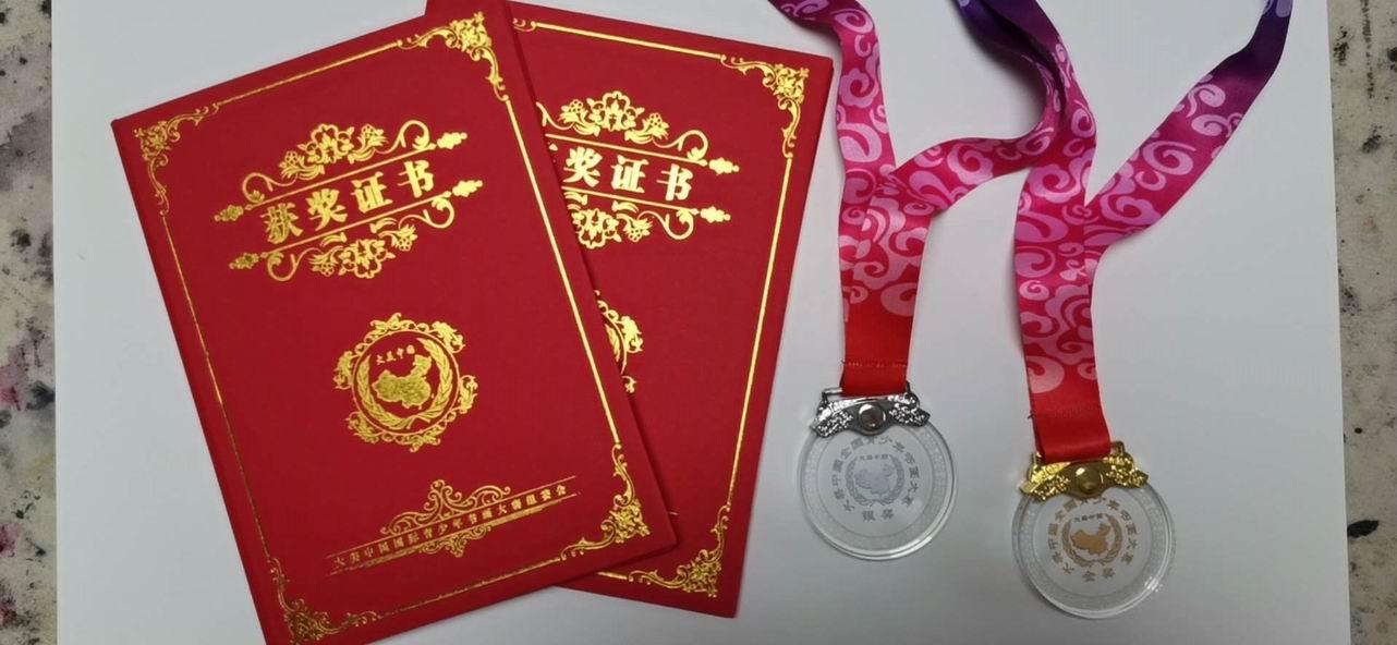 李明泽荣获2020第八届大美中国全国青少年书画大赛金奖和银奖